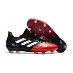 Scarpe da Calcio Uomo adidas Ace 17.1 Leather Fg Nero Rosso Bianco