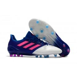 Scarpe da Calcio Uomo adidas Ace 17.1 Leather Fg Blu Rosa Bianco