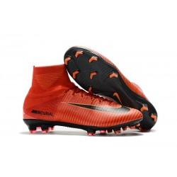 Nike Scarpe Mercurial Superfly V FG Uomo - Rosso Nero