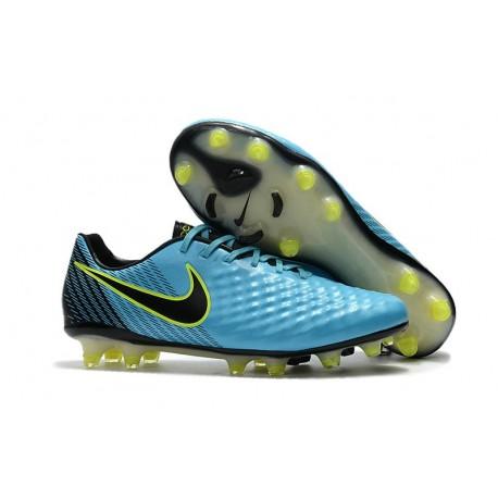 Nike Magista Opus II FG Nuovo Scarpe da Calcetto Blu Nero
