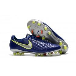 Nike Magista Opus II FG Nuovo Scarpe da Calcetto Blu Metallico