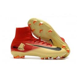 Scarpa da Calcio Nike Mercurial Superfly 5 FG ACC - Rosso Oro