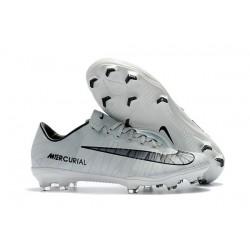 Cristiano Ronaldo Scarpe da Calcio Nike Mercurial Vapor 11 CR7 FG - Bianco Nero