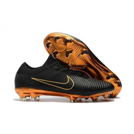 Calcio Scarpa Nero Nike Vapor Mercurial Oro Ultra Fg Flyknit Da Pkn0Ow