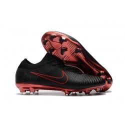 Scarpa da Calcio Nike Mercurial Vapor Flyknit Ultra FG - Nero Rosso