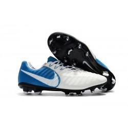 Scarpe da Calcio Nike Tiempo Legend 7 FG - Bianco Blu