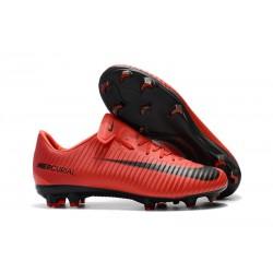 Nike Mercurial Vapor XI FG Scarpa da Calcio Uomo - Rosso Nero
