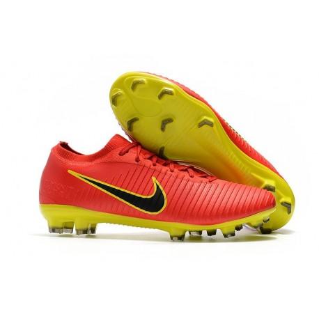 san francisco 2ba6a cdfc9 Scarpa da Calcio Nike Mercurial Vapor Flyknit Ultra FG - Rosso Giallo
