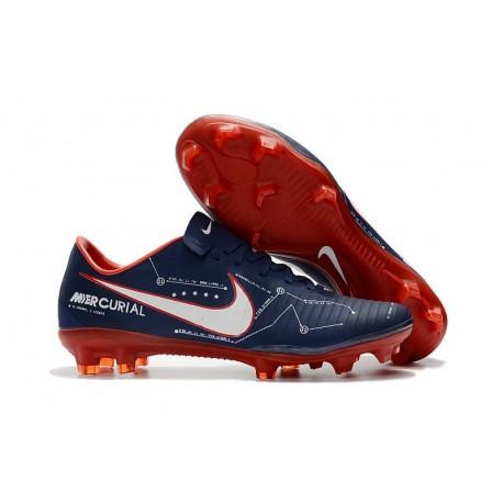 Nike Mercurial Vapor XI FG Scarpa da Calcio Uomo - Ciano Rosso