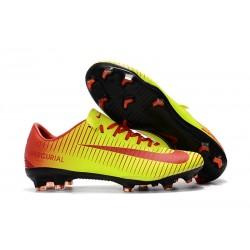 Nike Mercurial Vapor XI FG Scarpa da Calcio Uomo - Giallo Rosso