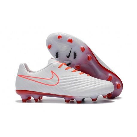 Nike Magista Opus II FG Nuovo Scarpe da Calcetto Bianco Arancio
