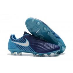 Nike Magista Opus II FG Nuovo Scarpe da Calcetto Blu Bianco