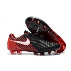 Nike Magista Opus II FG Nuovo Scarpe da Calcetto Nero Rosso