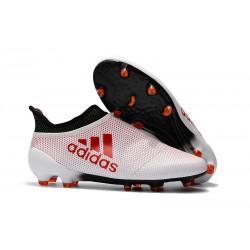 Scarpe Uomo Adidas X 17+ Purespeed FG Bianco Rosso