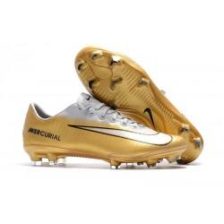 Nike Mercurial Vapor XI FG Scarpa da Calcio Uomo - Bianco Oro