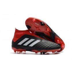 Adidas Predator 18+ FG Nuovo Scarpe da Calcio - Nero Rosso Bianco