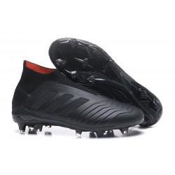 Adidas Predator 18+ FG Nuovo Scarpe da Calcio - Tutto Nero