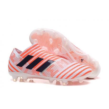 adidas Nemeziz Messi 17+ 360 Agility FG Scarpa da Calcio - Bianco Arancio