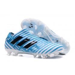 adidas Nemeziz Messi 17+ 360 Agility FG Scarpa da Calcio - Blu Bianco