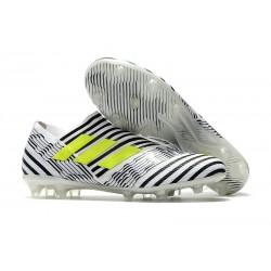 adidas Nemeziz Messi 17+ 360 Agility FG Scarpa da Calcio - Bianco Nero Giallo