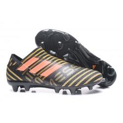 Scarpe adidas Nemeziz Messi 17+ 360 Agility FG - Nero Aancio Oro