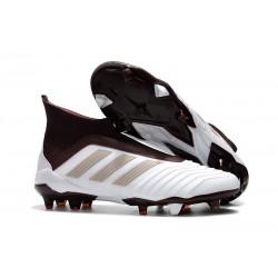 Adidas Predator 18+ FG Nuovo Scarpe da Calcio - Bianco Marrone