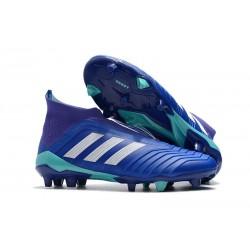 Adidas Predator 18+ FG Nuovo Scarpe da Calcio - Blu Bianco
