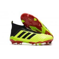 Adidas Predator 18+ FG Nuovo Scarpe da Calcio - Giallo Rosso Nero