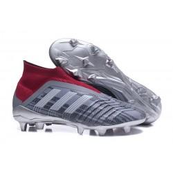 Scarpa da Calcio Adidas Predator 18+ FG Pogba Grigio Rosso