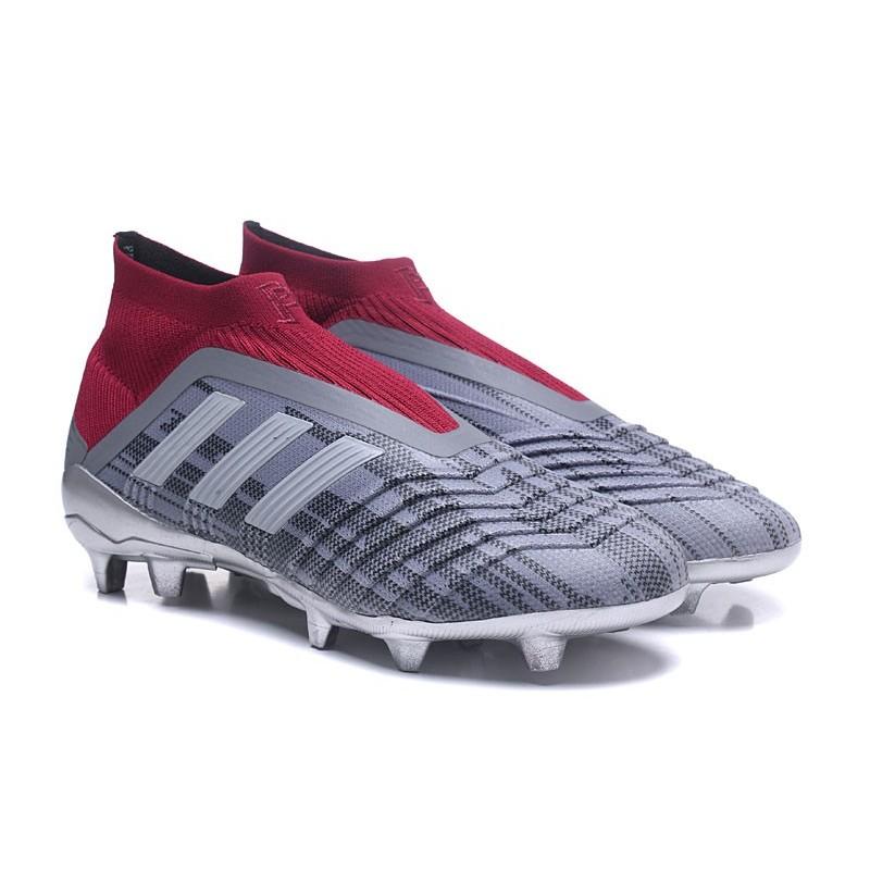Predator Adidas Scarpa Rosso Calcio Pogba 18Fg Grigio Da wyNOn08vm