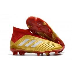 Scarpa da Calcio Adidas Predator 18+ FG Oro Rosso