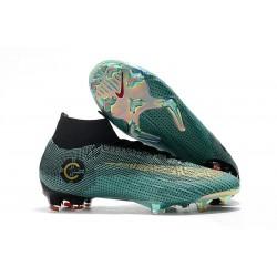 Nike Mercurial Superfly VI 360 Elite FG Nuova Scarpa Ronaldo CR7 Blu Oro