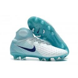 Nike Magista Obra II FG Scarpe da Calcio Uomo - Bianco Blu