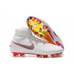 Nike Magista Obra II FG Scarpe da Calcio Uomo - Bianco Rosso