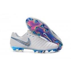 Nike Scarpe da Calcio Tiempo Legend 7 FG - Blanco Blu