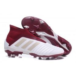 Scarpa da Calcio Adidas Predator 18+ FG Bianco Rosso