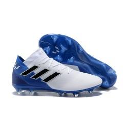 Adidas Nemeziz Messi 18.1 FG Scarpa Coppa del Mondo - Bianco Blu