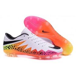 Scarpe da Calcio Uomo 2015 Nike Hypervenom Phinish FG Bianco Multicolore