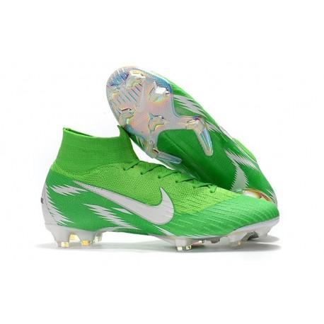 Nike Mercurial Superfly VI Elite FG 2018 Scarpa da Calcio - Verde Argento