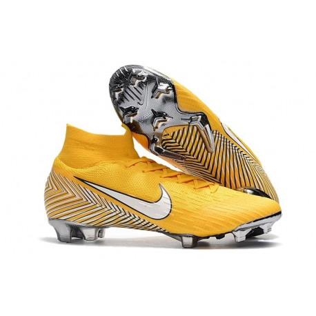 Nike Neymar Mercurial Superfly VI Elite FG 2018 Scarpa da Calcio - Giallo Bianco