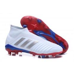 Scarpa da Calcio Adidas Predator Telstar 18+ FG Bianco Argento