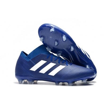 Adidas Nemeziz Messi 18.1 FG Scarpa Coppa del Mondo - Blu Blanc