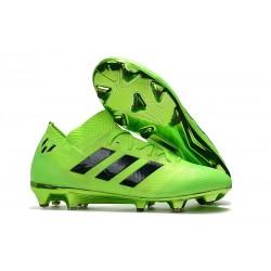 Adidas Nemeziz Messi 18.1 FG Scarpa Coppa del Mondo - Verde Nero
