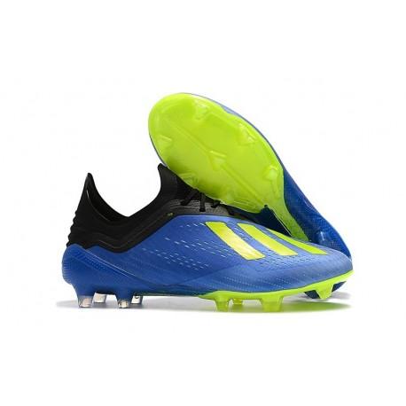 Scarpe da Calcio adidas X 18.1 FG - Blu Verde