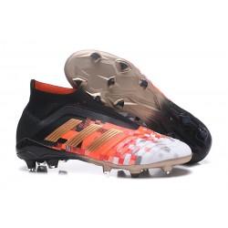 Scarpa da Calcio Adidas Predator 18+ Telstar FG Nero Rosso Oro
