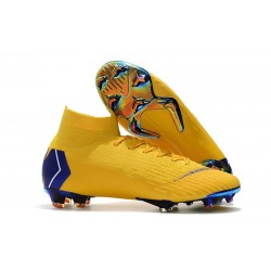 Nike Mercurial Superfly VI Elite FG 2018 Scarpa da Calcio - Giallo Blu