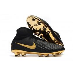 Nike Magista Obra II FG Scarpe da Calcio Uomo - Nero Oro