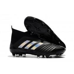 Scarpa da Calcio Adidas Predator 18+ FG Nero Argento