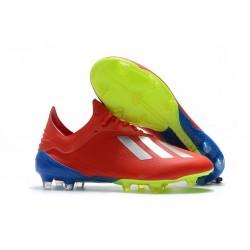 Scarpe da Calcio adidas X 18.1 FG - Rosso Argento
