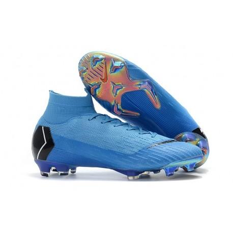 Nike Scarpa 2018 Mercurial Superfly VI Elite FG - Blu Nero